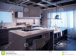shopping for kitchen furniture ikea kitchen store model home shopping editorial photo image