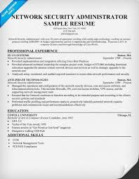 Sample Security Resume network security administrator cover letter