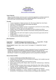 Recruiter Sample Resume by Emea Europe Uk Recruiter Cv