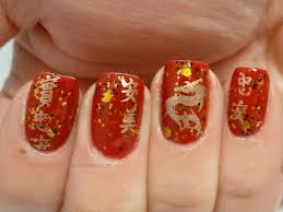 chinese new year nail art style samba