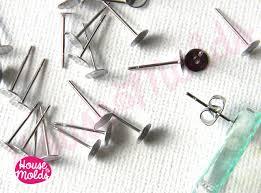 stainless steel stud earrings stainless steel studs earrings blanks 5 mm diameter with backs