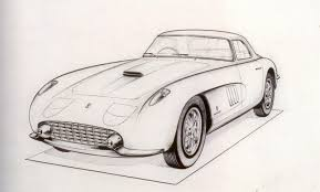old cars drawings a custom ferrari and the movie star