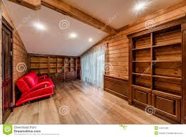 Log Home Interior Photos Log Cabin Library Stock Photo Image 44051483