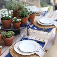 Setting The Table by Simple Neutral Summer Table Setting Cambridge Home Company