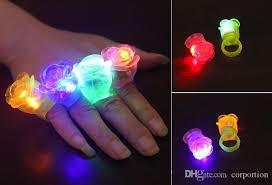 Light Up Gloves Rose Led Toys Flower Light Up Flashing Rose Flower Bubble Elastic