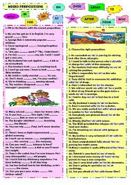 80 best preposition exercises images on pinterest exercises