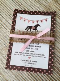 horse birthday party invitations cimvitation