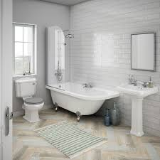 bathroom suites ideas appleby traditional bathroom suite with westbury gloss metro tiles