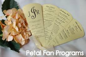 petal fan wedding programs wedding programs petal fan programs paddle fan programs