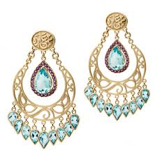 chandelier earrings wonders of nature blue topaz chandelier earrings azza fahmy