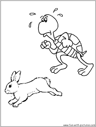 rabbit and turtle clipart 7