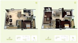 Duplex Floor Plan by Golf Edge Floor Plans Premium 2 U0026 3 Bhk Apartments Starts From