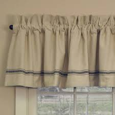 Black Window Valance Grain Sack Black Stripe Valance Piper Classics