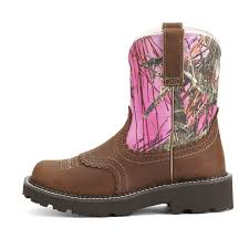 ariat fatbaby s boots australia ariat s fatbaby toe brown camo boots