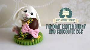 fondant easter bunny cake topper chocolate egg how to make fondant