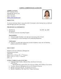 Reverse Chronological Resume Template Reverse Chronological Resume Sample 1 Purchase College