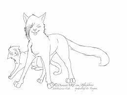 12 images of warrior cat with kittens coloring pages warrior