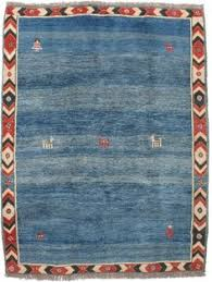 Blue Wool Rug Rugsville Gabbeh Tribal Blue Wool Rug 13203 Rugsville Com