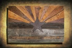 distressed wood artwork barn wood arizona flag handmade distressed wood vintage