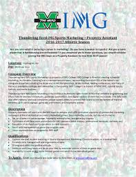 the partner services coordinator at thundering herd img sports