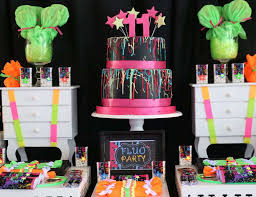 neon party ideas neon party ideas for a girl birthday catch my party