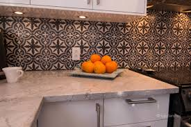 Cement Tiles Backsplash Contemporary Kitchen Montreal By - Cement tile backsplash