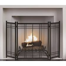 3 panel fireplace screen fireplace ideas