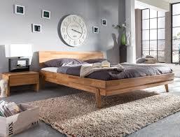 Schlafzimmer Massivholz Bett Liano Nachttisch Wildeiche Geölt Massivholz Holzbett