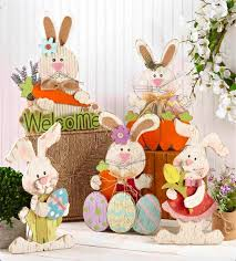 easter rabbits decorations 593 best painted easter images on easter rabbit and
