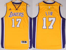 los angeles lakers 17 jeremy lin revolution 30 swingman 2014 new
