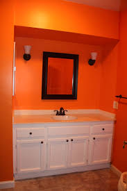 Colored Laminate Flooring My Orange Bathroom The Next Project In Here Will Be Installing