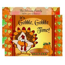 gobble gobble invitations announcements zazzle