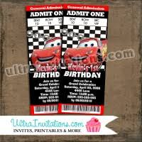 cars lighting mcqueen birthday invitations personalized