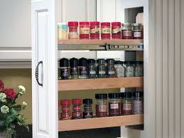 Roll Out Spice Racks For Kitchen Cabinets Vertical Pull Out Spice Rack Home Decorating Ideas And Tips