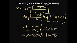 How To Calculate The Needed How To Calculate The Present Value Of An Annuity Episode 43