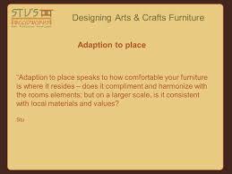 designing arts u0026 crafts furniture tonight we u0027ll talk about