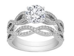 infinity wedding rings engagement ring infinity bridal set engagement ring matching