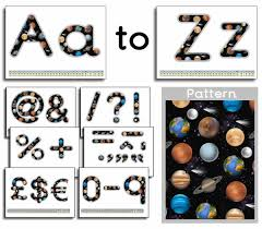 themed letters science themed display lettering primary treasure chest