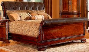 King Size Leather Sleigh Bed Leather King Size Sleigh Bed Build A King Size Sleigh Bed