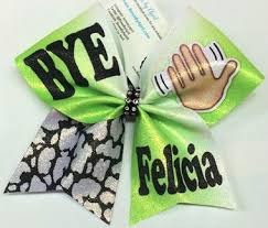 softball bows bye felicia lime ombré gltter cheer bow