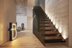 Industrial Stairs Design Neon Design Interior Design Ideas