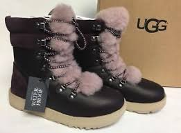 ugg sale netherlands ugg australia viki waterproof exposed shearling lace up boot