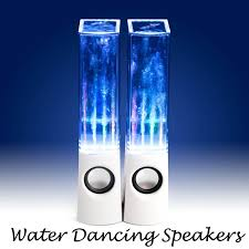 cool looking speakers water dancing speakers wat er cool gadget