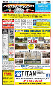 american classifieds shreveport la march 30th 2017 by