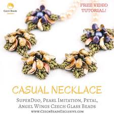 free necklace pattern images Superduo pearl imitation petal angel wings czech glass beads jpg