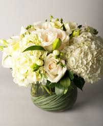 white flower arrangements stunning all white premium flowers such as hydrangea roses and