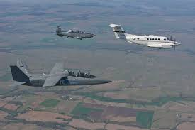 at 6 light attack aircraft us air force student test pilots evaluate textron airland scorpion