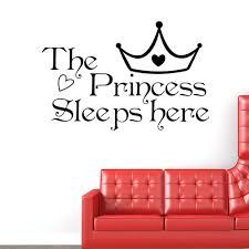 online get cheap princess sleeps here wall decals home decor wall