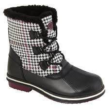 athletech women u0027s tamika faux fur winter snow boot plaid