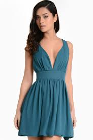 iclothing becky chiffon skater dress in teal iclothing